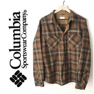 Columbia silver ridge 2.0 plaid shirt size medium